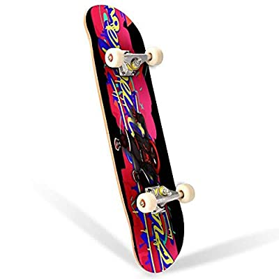 31 inch Skateboard No Expectations Complete Longboard Standard Skate Board Double Kick Tricks Skateboards for Kids Boys Girls Youths Beginners : Sports & Outdoors