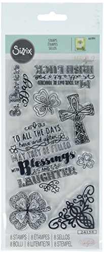 Sizzix 661994 Clear Stamps, St. Patrick's Day