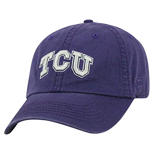 (Top of the World TCU Horned Frogs Men's Hat Icon, Purple, Adjustable)