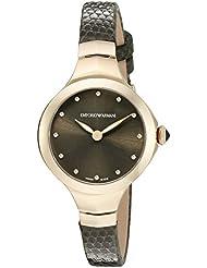 Emporio Armani Swiss Made Womens ARS8006 Analog Display Swiss Quartz Green Watch