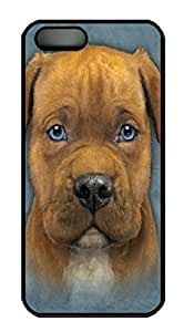 Covers Pit Bull Puppy Custom PC Hard Case Cover for iPhone 5/5S Black