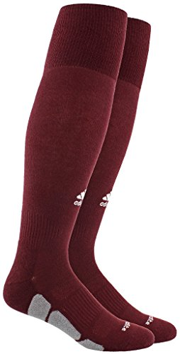 adidas Utility All Sport Socks (1-Pack), Maroon/White/Light Onix, Large