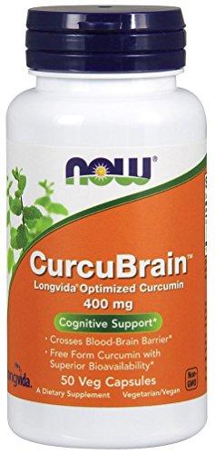 NOW CurcuBrain 400 mg,50 Veg Capsules