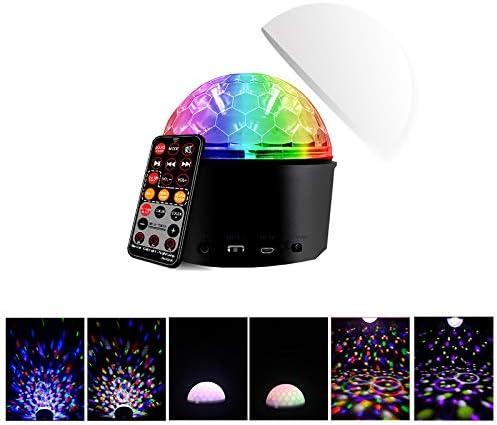 TOOGOO Led Disco Kugel mit Lautsprecher und Aux Port Party Licht B/üHne Licht Effekt Disco Light Zauber Kugel Licht f/ür Haus Party