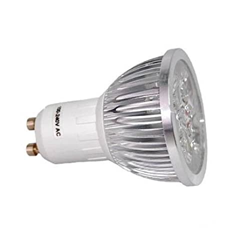 HQRP Bombilla LED GU10 Base 4 LEDs MR16 Blanco frío 6300K-7000K 100-240V