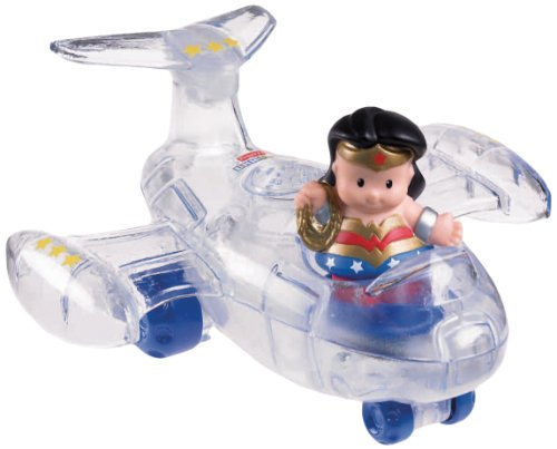 Fisher-Price Little People DC Super Friends Wonder Woman Invisible Jet image
