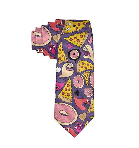 Fashion Accessory - Pizza Donut Men Necktie For Party Office Uniform