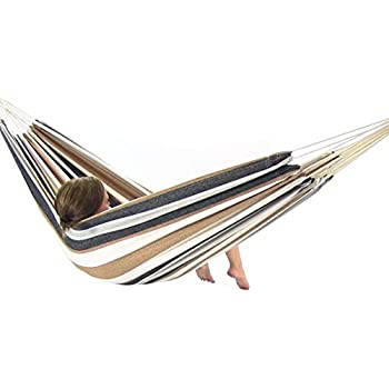 sunnydaze brazilian double hammock two person with carrying pouch max weight  450 amazon     sunnydaze brazilian double hammock two person with      rh   amazon
