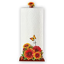 Unique Sunflower Kitchen Decor Single Roll Paper Towel Holder, 14H