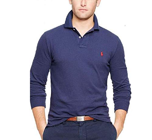 POLO RALPH LAUREN Men's Long Sleeve Mesh Polo Shirt