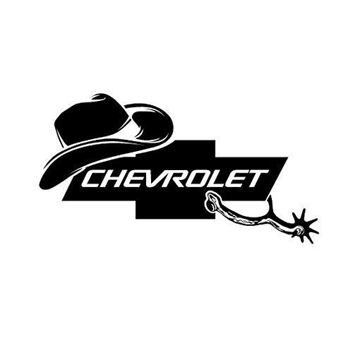 cowboy-hat-chevy-spurs-chevrolet-decal-098