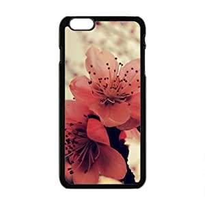 Attractive red flowers personalized creative custom protective phone case for Iphone 5 5s
