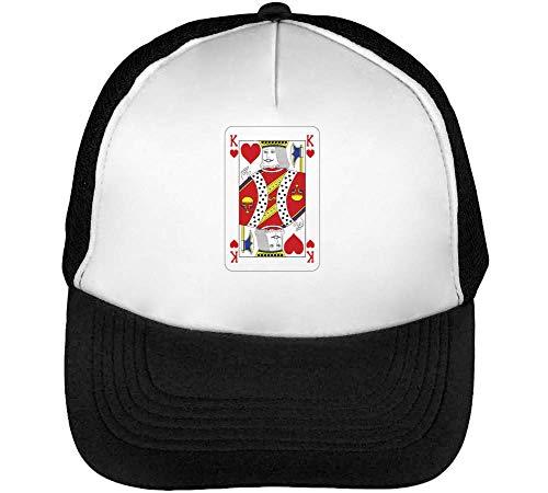 Beisbol Gorras Blanco Of Snapback Hombre Hearts Negro King qOfx6Hw