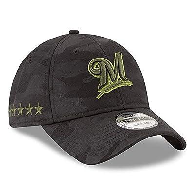 New Era Authentic Milwaukee Brewers Black 2018 Memorial Day 9Twenty Adjustable Hat: OSFM