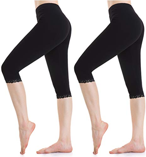 03974986aff3 Women Stretch Capri Leggings Under Dress Tight Shorts Thin Yoga Cropped  Pants
