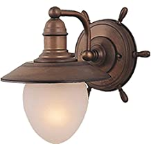 Vaxcel WL25501RC Orleans 1 Light Wall Light, Antique Red Copper Finish