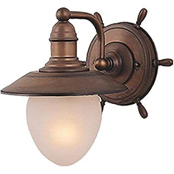 Vaxcel WL25501RC Nautical 1 Light Indoor Wall Sconce in Antique ...