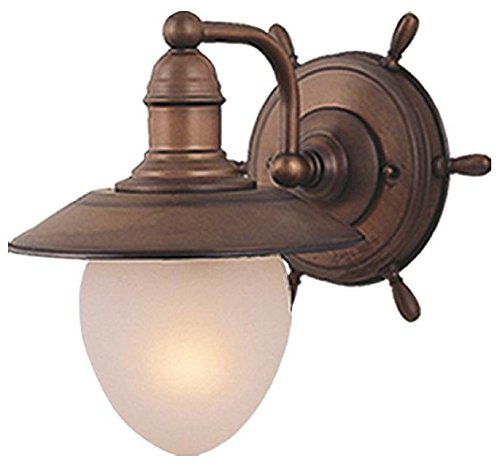 Vaxcel WL25501RC Orleans 1 Light Wall Light, Antique Red Copper Finish (Red Copper Finish)