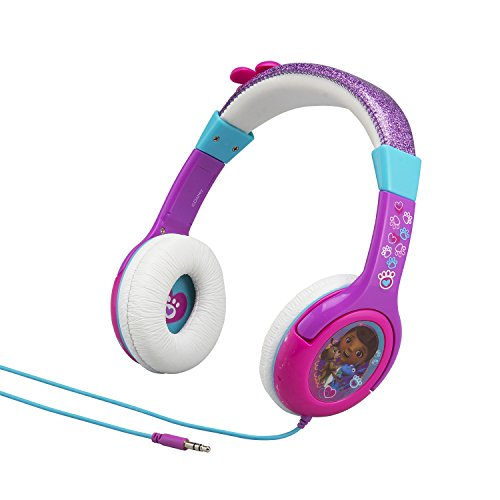 Disney Doc McStuffins Junior Kid Friendly Volume Reduced Rockin Doc Youth Stereo Headphones
