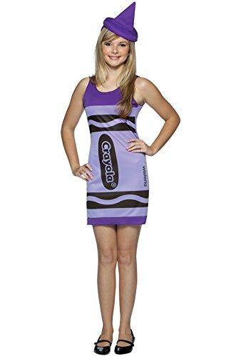 Rasta Imposta Crayola Tank Dress Teen Costume, Wisteria, Teen 13-16 - Tank Dress Wonder Woman Costumes