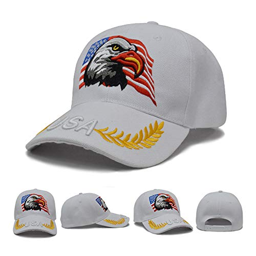Men's Make America Great Again Hat, MAGA, Bald Eagle Peaceful Olive Branch ()