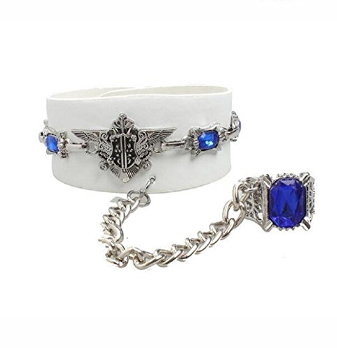 Fariishta Jewelry Fashion Personality Punk Style Leather Cuff Bracelet£¨white)