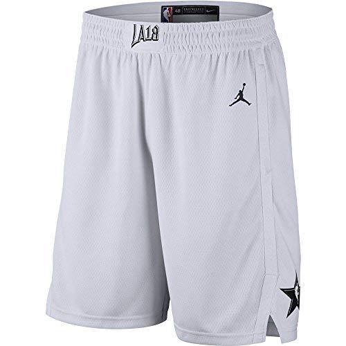 NIKE Jordan NBA Swingman All-Star Basketball Shorts (White, Medium) -
