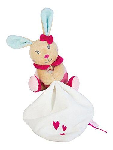 Baby Nat peluche con Doudou Perle el conejo rosa pequeño modelo