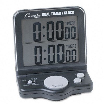 (Champion Sports : Dual Timer/Clock with Jumbo 1 Display -:- Sold as 2 Packs of - 1 - / - Total of 2 Each)