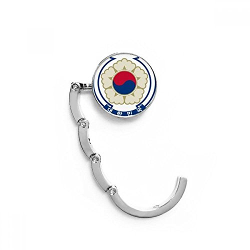 Korea National Emblem Country Table Hook Folding Bag Desk Hanger Foldable Holder