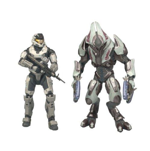 [McFarlane Toys Halo Reach Series 1 Spartan Mark V [B] (Male) & Elite Ultra 2 Pack] (Spartan Mark)