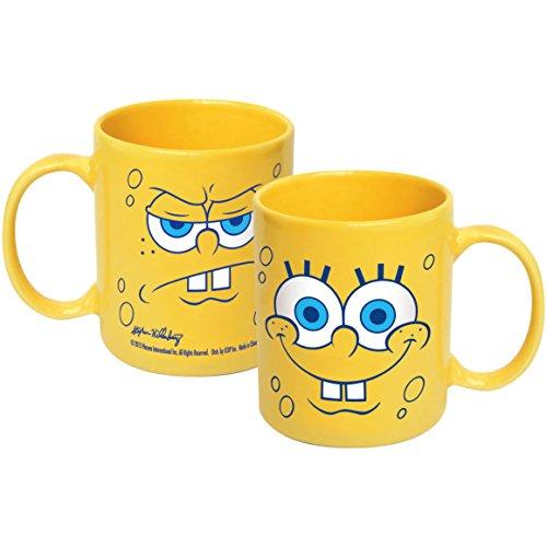 ICUP Spongebob Big Faces Ceramic Mug, 20 oz, Clear by ICUP