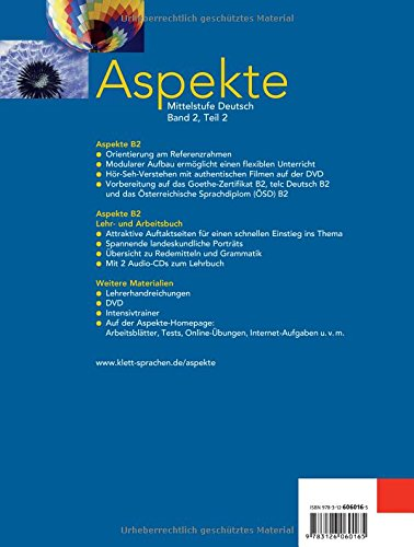 Aspekte 2 B2 Mittelstufe Deutsch Lehr Und Arbeitsbuch Teil 2 Mit
