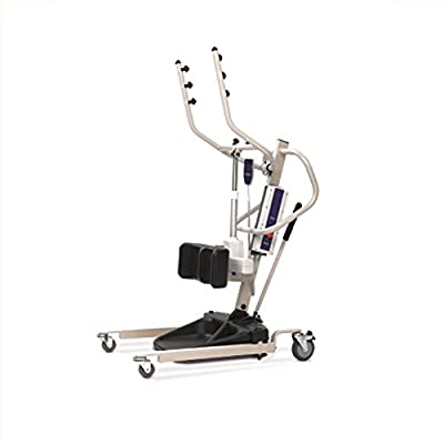 Power Stand Up Patient Lift (Invacare Reliant 350 Stand-Up Lift - RPS3502 w/(FREE Invacare Transport Chair Red - ALB19HBFR, a $405.00 value)