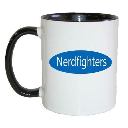 Fat Doxie -- Nerdfighters (Blue) -- 11 oz Mug