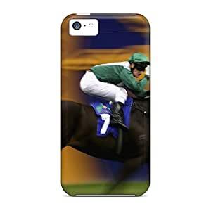 Quality JohnRDanie Case Cover With Horse Racing Sport Nice Appearance Compatible With Iphone 5c