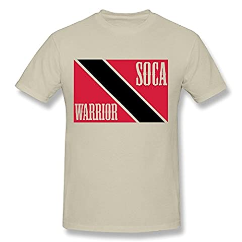 HD-Print Particular Soca Warrior Tshirt For Men Natural Size XS (Iphone 5c Cases Of Mice And Men)