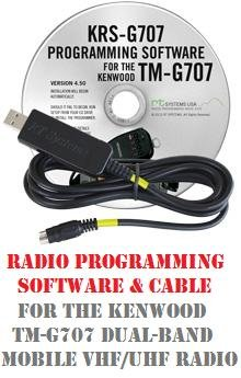 Kenwood TM-G707A/E Two-Way Radio Programming Software & Cable Kit by RF Gear 2 Go