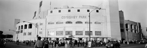 Posterazzi People Outside a Baseball Old Comiskey Park Chicago Cook County Illinois USA Poster Print (36 x 12) Varies (Comiskey Park Old)