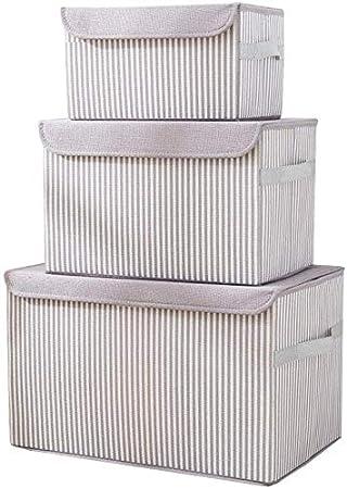 MU Caja de almacenamiento de ropa grande, caja de almacenamiento de tela, caja de almacenamiento plegable,gris: Amazon.es: Bricolaje y herramientas