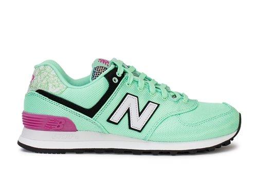 e85901e1e8bd7 New Balance Women's 574V1 Art School Sneaker, Agave/Poisonberry, 8 B US