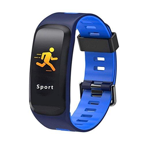 IP68Impermeable Fitness Tracker Pulsera de Actividad con pulsómetro, podómetro, calorías, presión sanguínea, Sangre oxígeno, Bluetooth 4.0Inteligente Banda para Android/iOS, iPhone 8, iPhone X