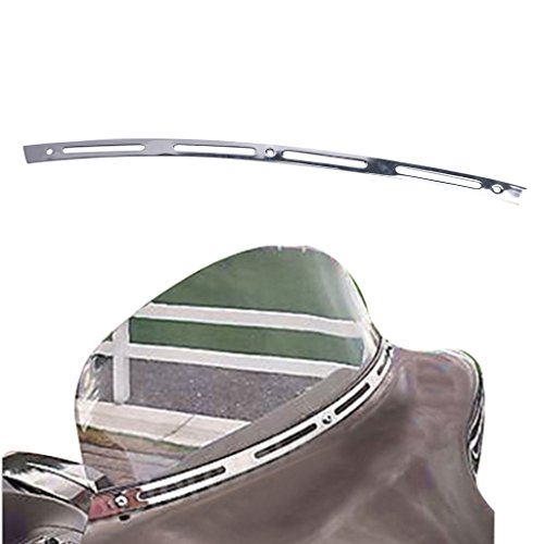 Jade Chrome Metal Slotted Windshield Trim For 1996-2013 Harley Davidson TOURING BAGGER BATWING