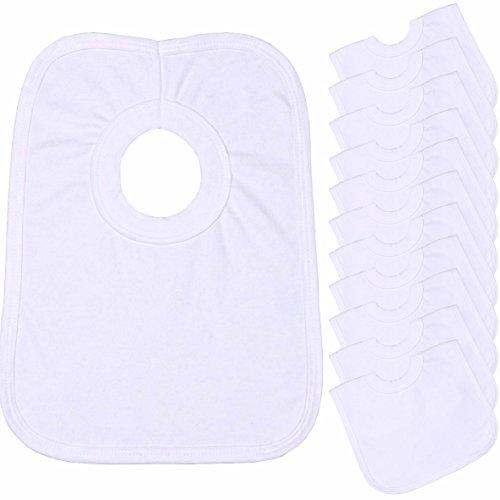 BabyPrem Cotton Round Popover White product image