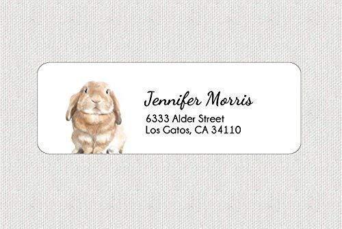 Personalized Woodland Animal Lover Gift Customized Cute Bunny Rabbit Return Shipping Address Label
