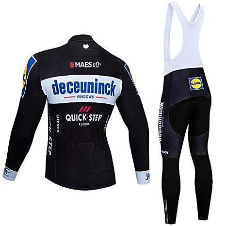 Pantalons avec 3D Gel Rembourr/é V/êtements de Cyclisme per VTT Sports de Plein Air ADKE Homme Automne Hiver Maillot de Cyclisme Jerseys Manches Longues