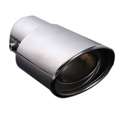 Silencieux - SODIAL(R)Tuyau d¡ ¯ echappement arriere queue embout silencieux en acier inoxydable de voiture chrome 62MM 060730