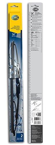 HELLA 9XW398114016 Standard Wiper Blade, 16'', Pair by HELLA (Image #2)