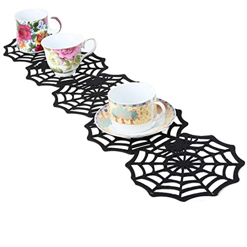 FunPa Halloween Table Runner Non-Woven Spider Web Party Table Runner Party Supplies]()