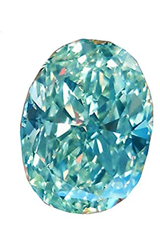 JEWELERYIUM Oval Cut, Blue Color, 6.00Ct Egg Shape Loose Moissanite Diamond, VVS1 Clarity, Gemstone for Making Vintege Ring, Jewelry, Pendant, Earrings, Necklaces, Watches from JEWELERYIUM